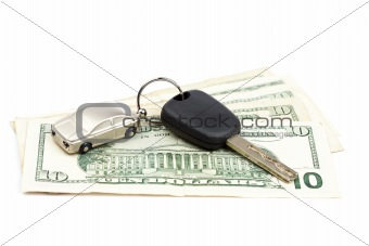 Car key and money