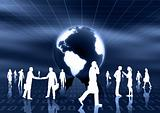 Virtual business and community Concept