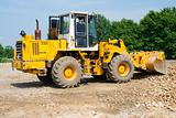 Heavy bulldozer loading ballast