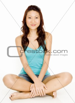 Asian Woman Sitting