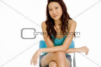 Asian Model Sitting