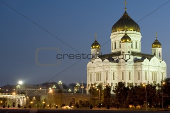 Cathedral of Christ the Savior the night