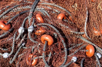Fishing nets out to dry