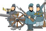 Three American civil war soldiers