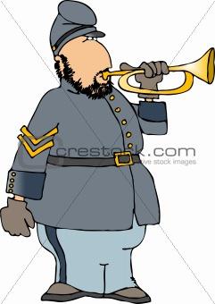 American civil war bugler