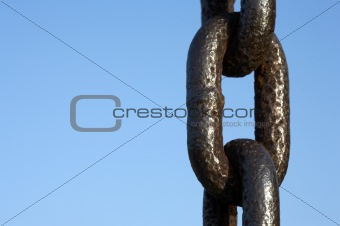 Single metal chain