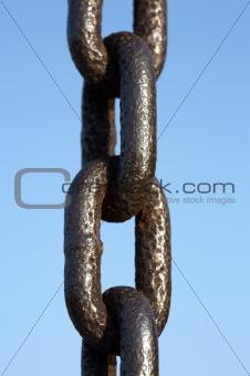 Single metal chain