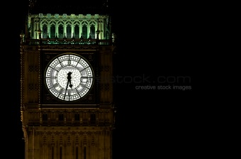 Houses of parliament and big ben at night,