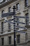 Metal signpost in Westminster