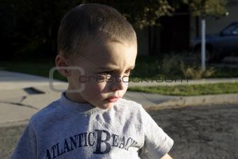 Little Boy Looking Serious