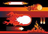 flames design elements