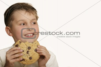 Boy with cookie