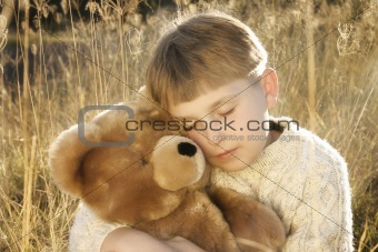 Boy and teddy