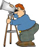 Man using a telescope