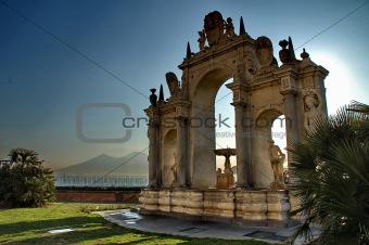 Fountain on Naples promenade
