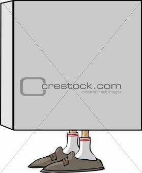 Closed box with feet