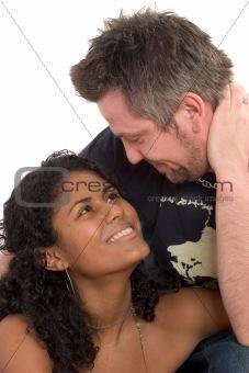 Attractive diverse couple