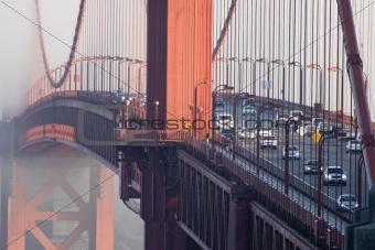 Cars on Golden Gate