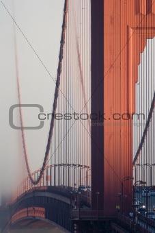 Close-up Golden Gate