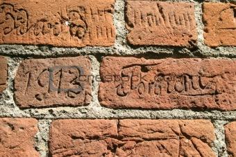 Old inscription.