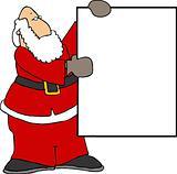 Santa and a sign
