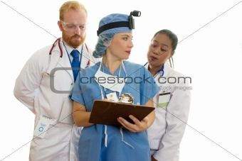 Three Medical Healthcare Staff