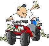 Drunk ATV rider