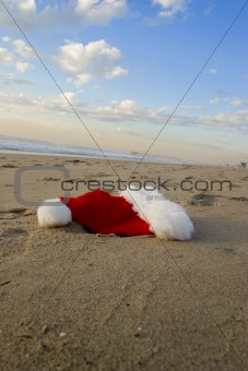 Santa Dropped His Hat on the Beach