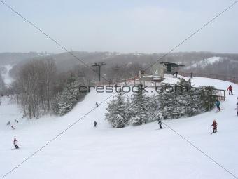 Ski winter sport
