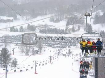 Ski winter resort