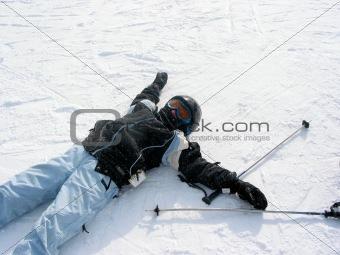 Girl ski winter