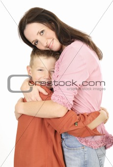 Mother and son cuddling 2