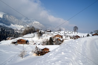 A day in the snowy village