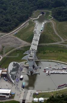 Falkirk Wheel Aerial