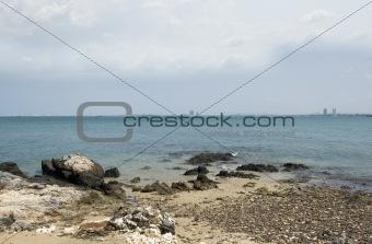 Beach with big stones