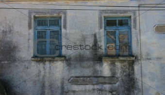 Old Unoccupied House Window in Candarli, Turkey