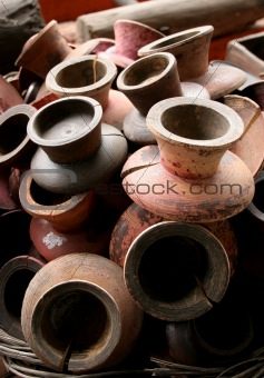 Old candlestick holders