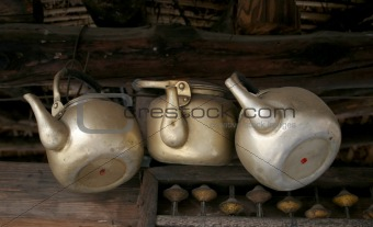 Old teapots