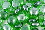 Green Glass Beads