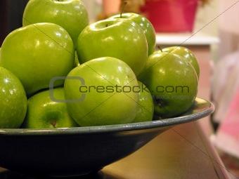 Green apples bowl