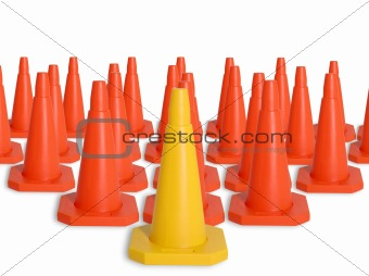 Army of traffic cones