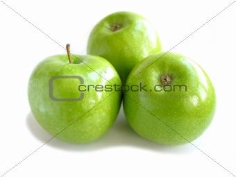 Green apple white