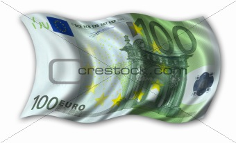 One hundred Euro Flag