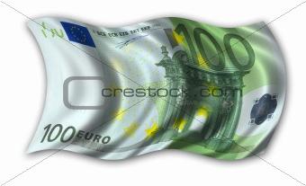 One hundred Euro Flag