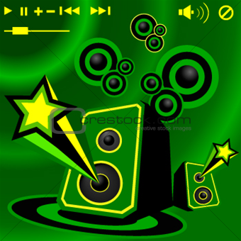 Blow up your speakers (Vector)