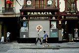 Barcelona street with Pharmacy