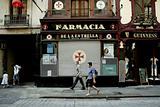Barcelona street with Pharmacy