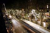 Moving bus at the Ramblas, Barcelona