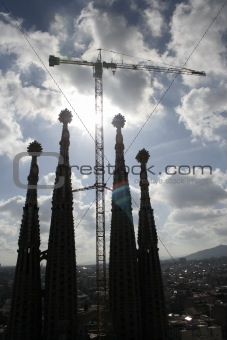Towers of the Sagrada Familia, Barcelona
