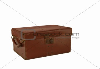 Old Brown Leather Box Case